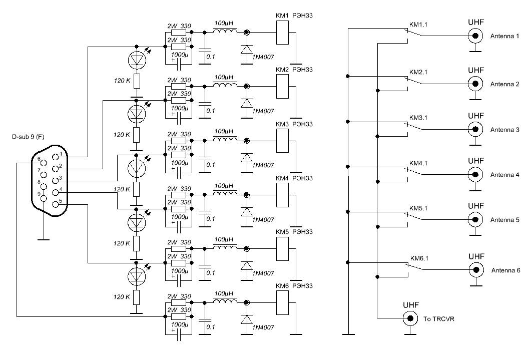 Схема антенного модуля